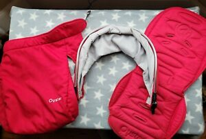 Babystyle Oyster 2 Max Main Seat Colour Pack Hood, Liner, Apron/ Cosy Toe in Red