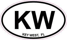 Key West Florida Oval Vinyl Sticker Decal 5x3