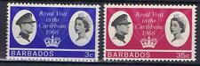 Barbados 1966 Royal Visit SG 340-41 MLH