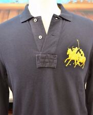 Polo Ralph Lauren Men's Big Pony Long Sleeve Polo Shirt Size Medium Cotton Cool
