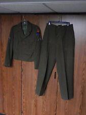 1ST ARMORED U.S. ARMY ENLISTED UNIFORM IKE WOOL JACKET TROUSERS SHIRT BELT LOT