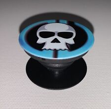 Blue Crash Pop Out Socket Phone Grip And Stand
