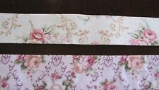 """2"""" Floral Jacquard Linen Blend Double sided Ribbon Bty"""