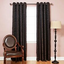 Best Home Fashion Room Darkening Zebra Jacquard Print Curtains - Antique Bronze