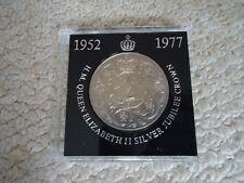 H.M. QUEEN ELIZABETH 11 SILVER JUBILEE CROWN 1977 Cased VINTAGE ORIGINAL COIN
