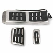 Set Sport Foot Rest Fuel Brake Pedal Plate Cover For AUDI A4 S4 A5 A6 Q5 S5 A7