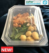15 Large,310mm x 240mm,Hot Food,Meal Prep,Roast Dinner,Food Containers,Hinge Lid