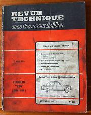 RTA du 11/1968; Peugeot 204 (1966-1969)/ Compte rendu salon de Paris