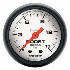 "AutoMeter 5702 Gauge, Boost, 2 1/16"", 15psi, Mechanical, Phantom"
