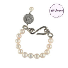 BOWERHAUS Fleur Pearl Bracelet SILVER  Rhodium Plated Clasp FREE POST 70%OFF