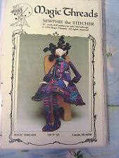 "SEWPHIE THE STITCHER~Julie McCullough 1994 RARE 30"" USA cloth art doll pattern"