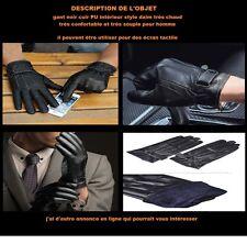 gant noir semili cuir très confortable très souple pour homme taille ( M )