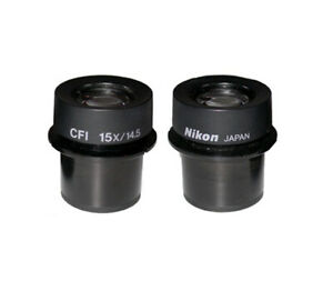 New in Box -- Pair of Nikon CFI 15X /14.5 Eyepieces with 30mm Mounting