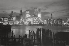 New York City at Night Skyline Art Print Poster - 36x24