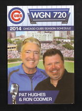 2014 Chicago Cubs Schedule--WGN--Blank Back