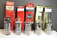 Lot of 5 NOS Mixed-Manufacture 6KD6 Beam Pentode Amplifier Tubes (562)