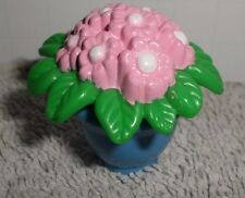 Fisher Price Loving Family Dollhouse Blue Vase Pot Flowers Potted Plant