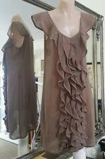 Review Chiffon Dress. Sz8. Milk Chocolate. As new
