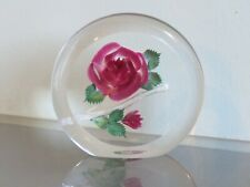 Rose in perspex paperweight ornament