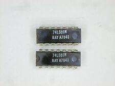 "RAY74LS01N  ""Original"" Raytheon  14P DIP TTL IC  2  pcs"