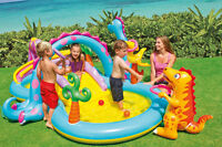 Inflatable Water Park Slide Pool Commercial Bounce House Yard Dinoland Play Kids