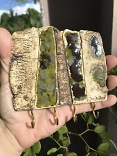 Handmade Ceramic Keychain Holder, Beige-Green-Brown, Wall Art, NEW