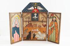 Monica Sosaya Halford New Mexico Folk Art Nativity Folding Retablo Sculpture