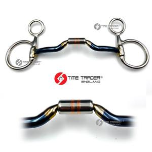 Baucher Hanging Cheek Blue Sweet Iron Copper Roller Horse Bit Snaffle All Sizes