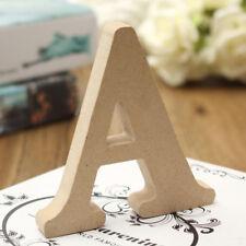 10x1.5cm (thick) Wood Wooden Letters Alphabet Wedding Birthday Home Decor