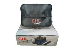 """Chi Smart Magnify Ceramic Hot Rollers - 1 1/4 """" w/ Clips & Bag New!"""