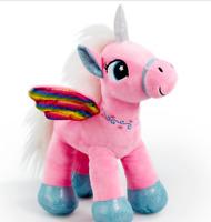 Snuggle Buddies Rainbow Flutter Unicorn Soft Toy 38 cm- Pink