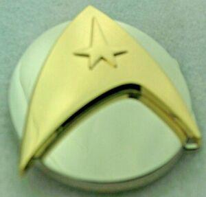 "Belt Buckle ""STAR TREK"" Silver+Metal, Custom Made to Fit 4 cm Belt, DIY, No Belt"