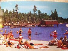 VINTAGE PHOTO EARLY 1950'S  BEACH  SCENE , MEEKS BAY, LAKE TAHOE 4x6