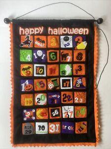 """Kids Halloween Pumpkin Spider Wall Advent Calendar Kirklands 31 Days 24"""" X 35"""""""