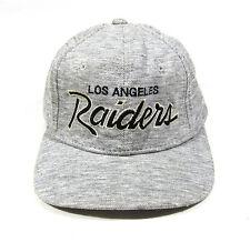 90S VTG LOS ANGELES RAIDERS HEATHER SCRIPT SPORTS SPECIALTIES SNAPBACK HAT NWA