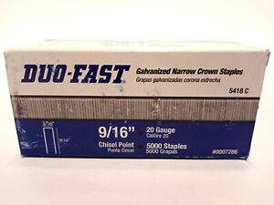 Duo-Fast 5418C 9/16-Inch by 20 Gauge 3/16 Crown Galvanized Upholstery Staple