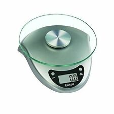 Taylor 3831S Digital Kitchen Scale 6.6 Lb Silver Glass Battery