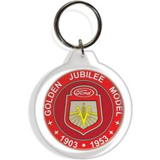 FORD GOLDEN JUBILEE 50 YEARS 8N RED GARDEN FARM TRACTOR KEY FOB RING KEYCHAIN