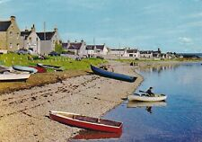 The Water Front Findhorn Moray Scotland Postcard 1970 used VGC