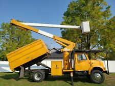 1998 International 4700 60' Over-Center Chipper Dump Boom Bucket Truck Diesel