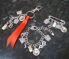 Paddington Bear inspired charm bracelet, keyring, key chain or kilt pin brooch