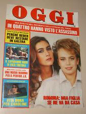 OGGI=1985/3=ROMINA POWER YLENIA CARRISI=GEORGE SIMENON=ELENA MASSA=MARZABOTTO=