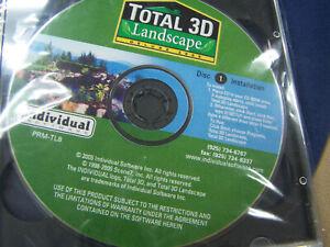PRM-TL8 Software Total 3D Landscape Deluxe 2005 Windows XP, 2000 New 3 CD