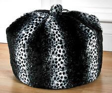 Faux Fur Bean Bag Snow Leopard Design Luxurious Large Faux Fur Bean Bag 5 Cu Ft
