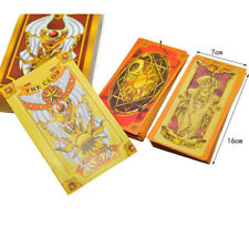 Anime Cardcaptor Sakura Star Clow Cards 52 Yellow Magical Cards Set Cosplay Gift