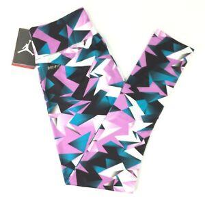 Nike Dri Fit Jumpman Training Tights Fuchsia Glow Girls Sizes MED-XL-2XL NEW