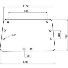 Heckscheibe oben für IHC, Case-IH Traktoren mit Comfort 2000 Kabine # 3221542R1