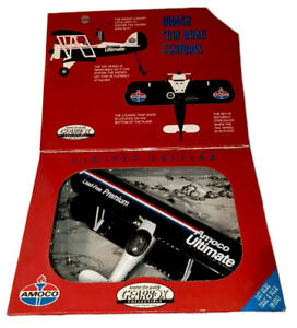 Limited Edition Gearbox Amoco Ultimate UBF Biplane Airplane Hidden Coin Bank NEW
