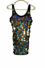 Dance Costume - Sequins, Black, Costume Gallery, Small Adult