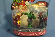 Toys New Marvel Heroes 3 pack Deluxe Figures Iron Man Hulk Black Widow